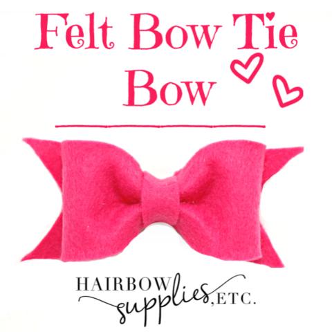 Felt Bow Tie Bow