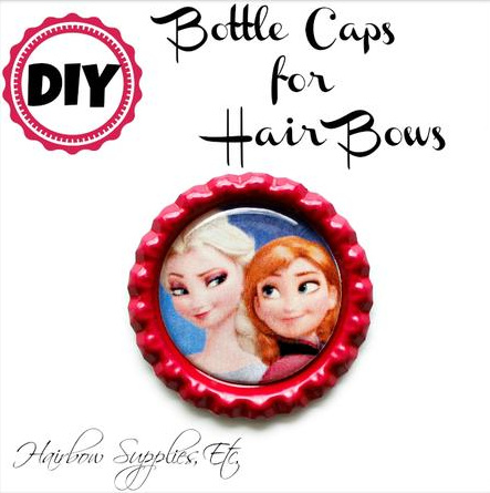 Bottle Caps for Hair Bow Centers Tutorial