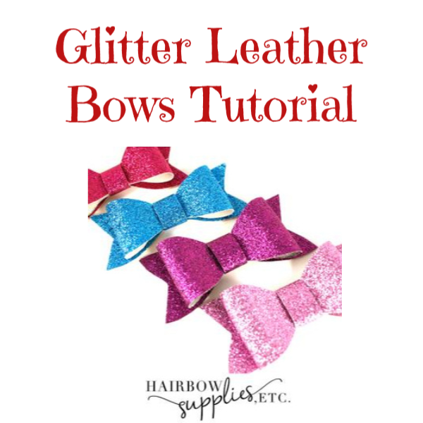 Glitter Leather Bows